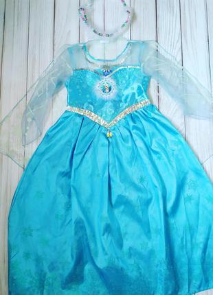 Платье эльза 5-6 лет