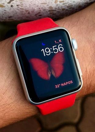 Силиконовый спортивный ремешок sport band для часов apple watch