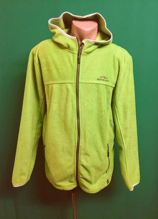 Демисезонная флисовая куртка с капюшоном бренда crivit