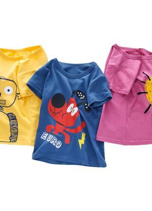 Детская футболка, 2- 6 года, 6 раскрасок, новая