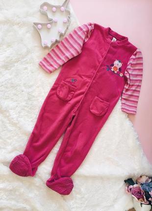 Новый розовый мягкий детский кигуруми{пижама} 3-5 лет
