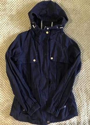 Темно-синяя женская куртка-парка cropp town / весенняя / xs-s