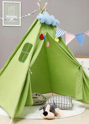 Детская палатка, Вигвам, детский домик, шатер - 5 цветов