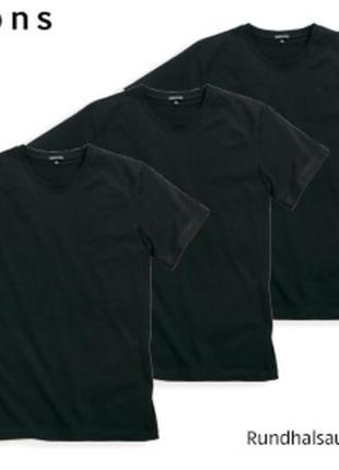 3 шт, хлопковая футболка s 44-46 комплект, watsons германия, ч...