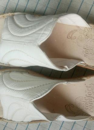 Женские босоножки шлепанцы экокожа белые размер 40