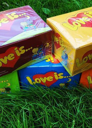 Жвачки Love is 100 шт все вкусы! В наличии!
