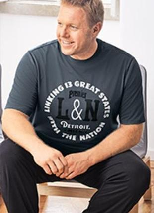 Стильная мужская футболка 2xl-58, батал, watsons германия