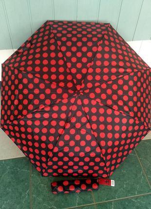 Зонт зонтик полуавтомат зонт компактный лёгкий.