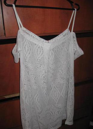 Платье кружево пляжное белое