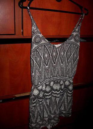 Комбинезон aztec черно-белый