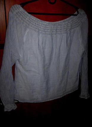 Блуза полоска хлопок