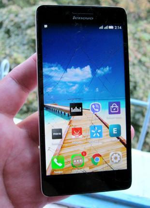 Б/У смартфон Lenovo A6000 разбит дисплей (2SIM, 3G, Android 5.1.1