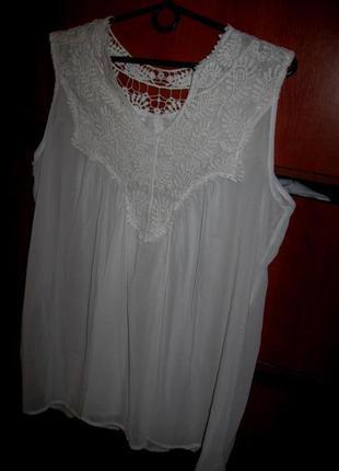 Блуза-туника белая