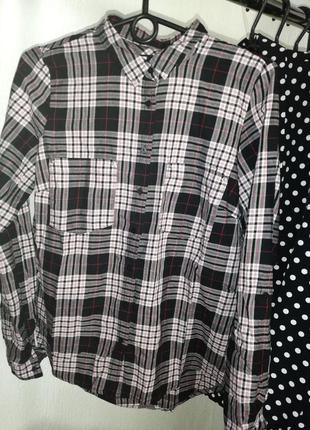 Рубашка клетка черно-красная