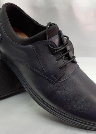 Распродажа!весенние комфортные синие туфли,мокасины rondo 40,4...
