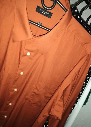 Рубашка oversized цвет корицы