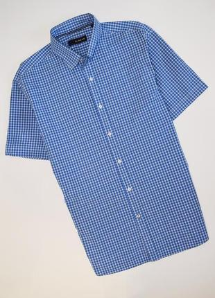 Мужская рубашка в клетку blazer короткий рукав