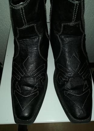 Ковбойские ботинки казаки 42 р. мужские черные