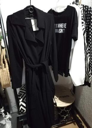 Тренч-халат zara черный