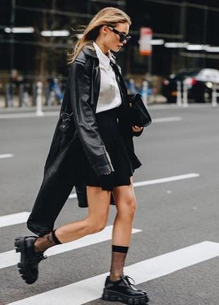 Носки прозрачные под ботинки черно-белые