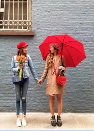 Зонт трость красный