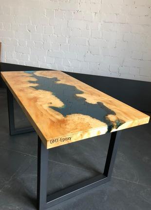 Столы с эпоксидной смолы из слэба. Ценных пород древесины.