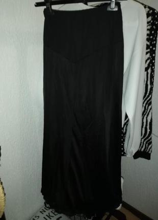 Подъюбник длинный черный под прозрачное платье/юбку