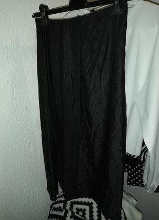 Подъюбник миди черный под прозрачное платье/юбку