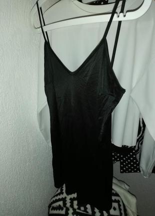 Комбинация под прозрачное платье черная