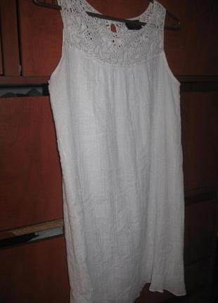 Красивое платье с кружевом белое