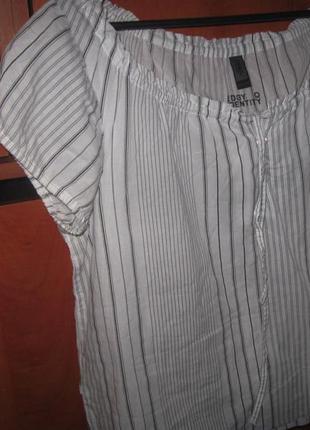 Блуза в полоску бело-черная