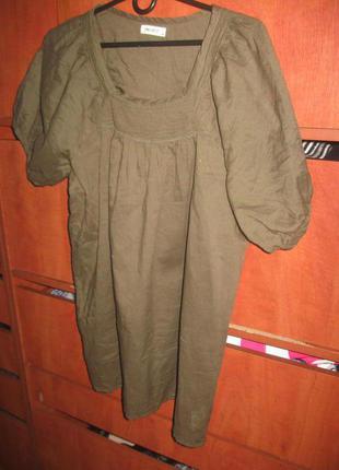 Туника платье батист хаки