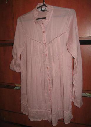 Блуза-туника розовая