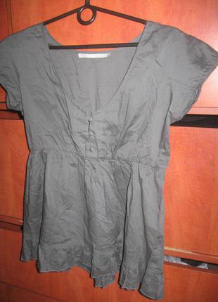 Блуза-туника серая