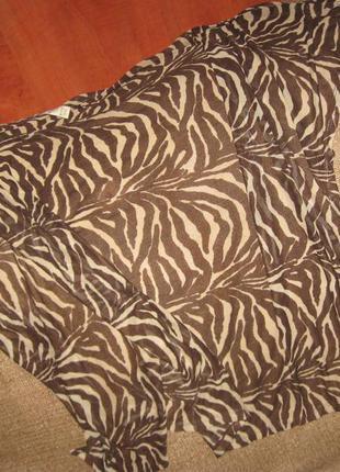 Парео к купальнику длинное тигровый коричнево-бежевое