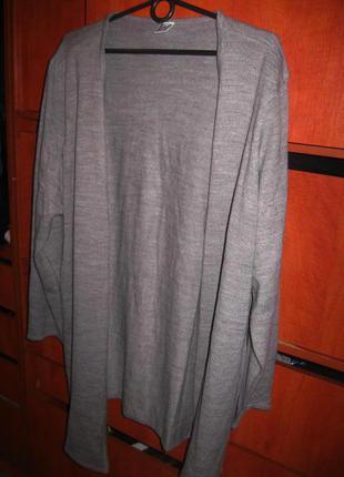 Кардиган длинный серый