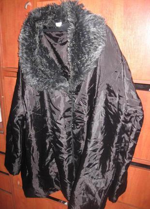 Куртка plus size  черная