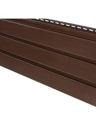 Софит (панель для подшивки карнизных свесов) АйДахо коричнева 3м