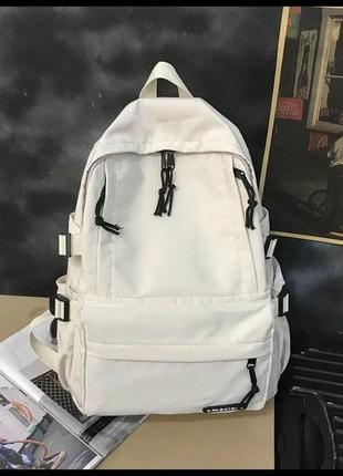 Рюкзак городской молодёжный мужской женский. белый
