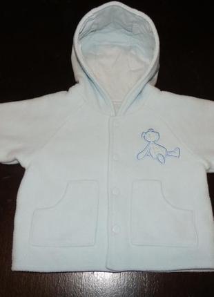 Флисовая курточка на мальчика 6 месяцев