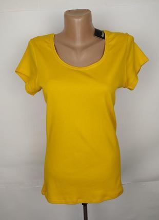 Блуза новая желтая красивая приталенная хлопок george uk 12/40/m