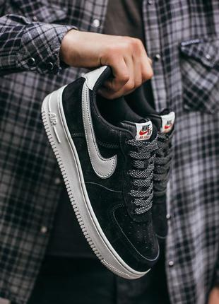 "Кросівки nike air force lou luxury suede  ""black\white"" кроссовки"