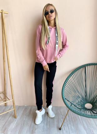 Женский,подростковый спортивный костюм ,штаны с лампасами+худи...