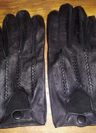 Кожаные автомобильные перчатки manbag