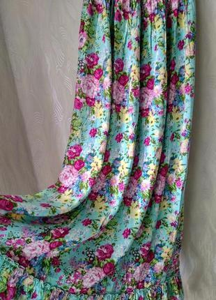 Длинный сарафан в цветы