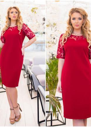 Женское нарядное платье большие размеры,разные расцветки
