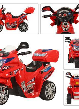 Детский мотоцикл на аккумуляторе M 0566 красный