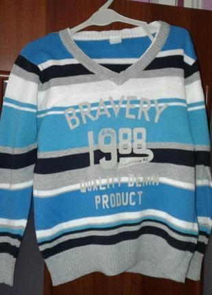 Хлопковый джемпер пуловер для мальчиков gee jay. размер 98-104...