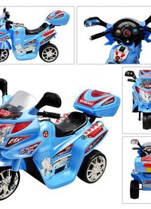 Детский мотоцикл на аккумуляторе M 0637 синий
