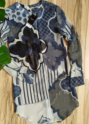 Красивая длинная блуза,шифон.